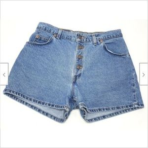 Levis Vtg 950 Relaxed Fit Button Fly Jean Shorts